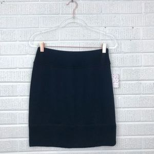 Free People French Terry Knit Skirt Ribbed Mini M